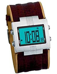 K Swiss M950.14KS - Reloj de caballero de cuarzo con correa de piel marrón - sumergible a 50 metros