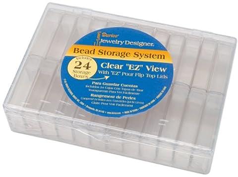 Darice organisateur à perles en plastique 16,2cm X 11,4cm X 3,49cm