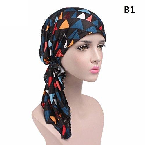 EINSKEY Chemo kopfbedeckung damen, 2PCS Damen kopftuch bandana turban für make-up,...