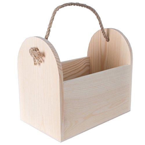 Seil Griff Tote (searchbox Holz Bier/Flaschenhalter Caddy/Tote/Carrier/Werkzeugkoffer mit natürlichen Seil Griff)