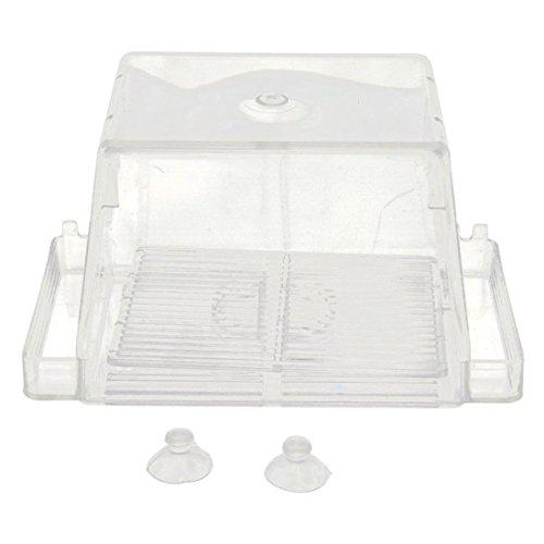 Caja de incubacion Acrilico - TOOGOO(R) Caja de cria aislamiento auto flotante de peces de acuario criadero criador Case(Transparent)