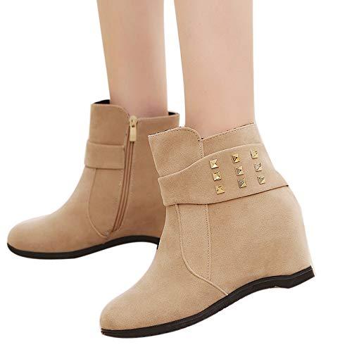 SUNNSEAN Damenstiefel Stiefeletten Damen Herbst Winter Plattform Keilabsatz Stiefel Damenschuhe Erhöhte Mode Stiefel Schuhe Casual Boots Freizeit