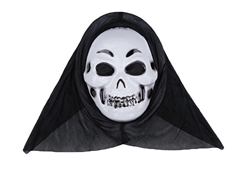 een-Maske für Kinder und Erwachsene, Kostüm-Party Props (Ghost) (Scary Movie Ghost Maske)