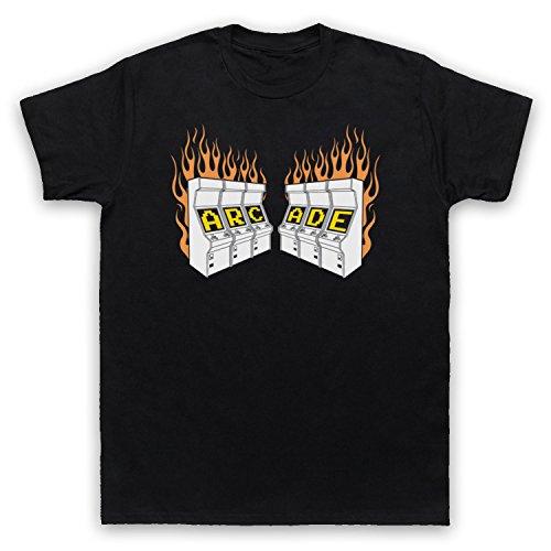The Guns Of Brixton Arcade Fire Retro Gaming Machine Logo T-Shirt des Hommes