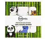 Mussole Neonato Bambù 120x120 Set 3 Teli - 100% Bamboo Naturale - Superiore al Cotone - Morbide Copertine Mussola - Regalo Neonato Neonata - X Fasciatoio Coperta Culla Bambino