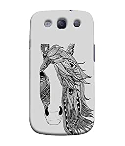 PrintVisa Designer Back Case Cover for Samsung Galaxy S3 Neo I9300I :: Samsung I9300I Galaxy S3 Neo :: Samsung Galaxy S Iii Neo+ I9300I :: Samsung Galaxy S3 Neo Plus (Artistic Design Of Horse With Lady Like Hairs)