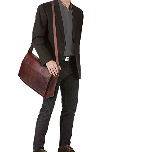 STILORD Rick Borsa Vintage a tracolla in pelle da uomo & donna Porta documenti PC 15.6 Messenger per Università e Ufficio vera pelle, Colore:cognac lucente cognac marrone scuro