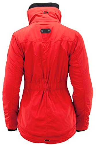 Anonymous & Famous Damen Winterjacke Jacke Windbreaker Kapuze Rot