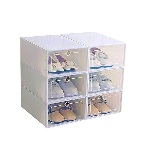 Tioodre scatola da scarpe 6 pezzi scatola da scarpe in plastica trasparente scatola da scarpe impilabile organizzatore salva spazio per donne/uomini
