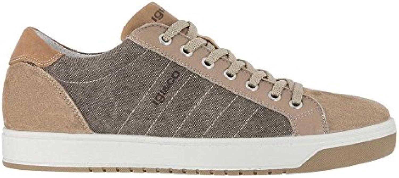 IGI&CO scarpe scarpe scarpe da ginnastica Bassa Uomo Pelle e Tessuto Beige | Ad un prezzo accessibile  e41a70