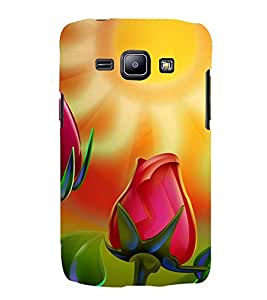 ANIMATED BLOOMING TULIP IN SUNLIGHT 3D Hard Polycarbonate Designer Back Case Cover for Samsung Galaxy J1 :: Samsung Galaxy J1 J100F (2015)