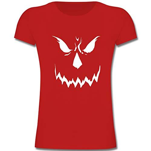 Anlässe Kinder - Scary Smile Halloween Kostüm - 164 (14-15 Jahre) - Rot - F131K - Mädchen Kinder T-Shirt