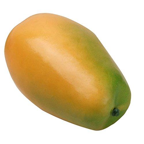 EMVANV Obst und Gemüse, aus Echtholz, aus Kunststoff, künstliche Früchte, Wie abgebildet, - Pawpaw-frucht