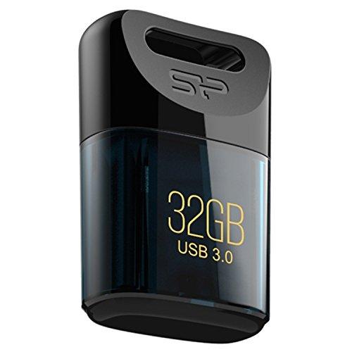 Silicon power sp032gbuf3j06v1d jewel j06 mini chiavetta usb 3.0 da 32 gb, blu scuro