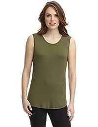 d9a9a3d2233f Amazon.it  top verde militare - Canotte e top   T-shirt