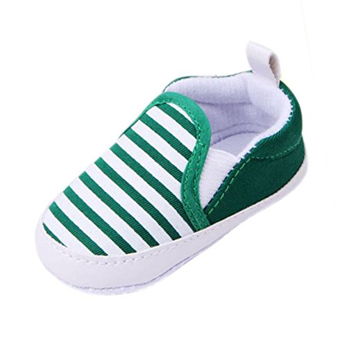 Silvercell Baby Striped Sneakers weiche Sohle Anti-Rutsch-Outdoor-Schuhe Green