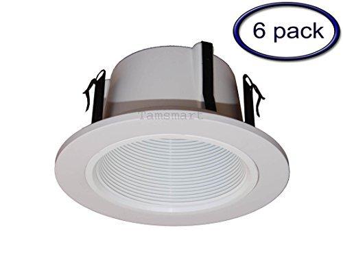 10,2cm Line Spannung Phenolharz-Abgestufte-Trim/Zierteile für Einbauleuchte/lighting-white ersetzt Halo 993W (6Stück) -