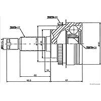HERTH+BUSS JAKOPARTS J2827124 Gelenksatz, Antriebswelle