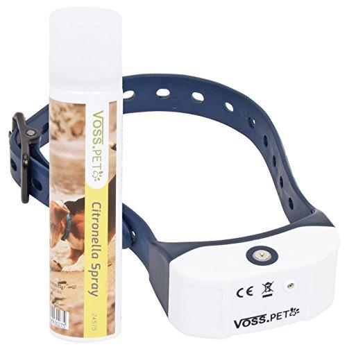 VOSS.PET Antibell Halsband AB3 Sprayhalsband Erziehungshalsband für Hunde, Inklusive Spray mit Zitrusduft
