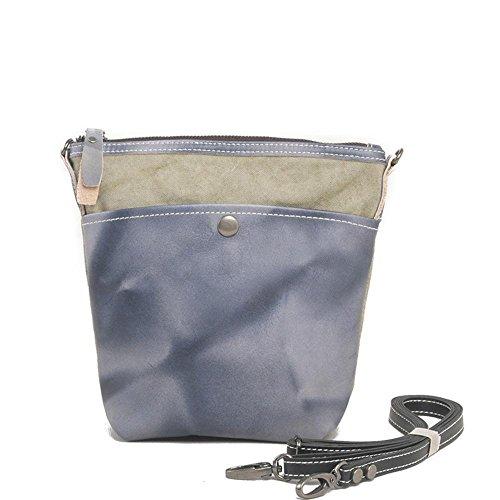 Europa e negli Stati Uniti gli uomini e le donne borsa di tela Europa e la retro borsa zaino borsa Messenger Stati Uniti , orange Blue