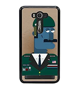 Fuson Premium 2D Back Case Cover I am Soldier With yellow Background Degined For Asus Zenfone 2 Laser ZE500KL::Asus Zenfone 2 Laser ZE500KL (5 Inches)