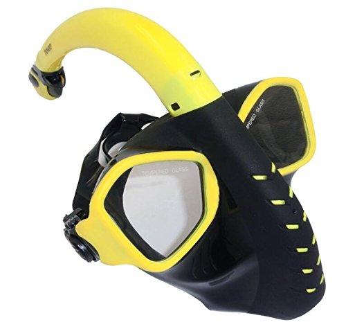 Tutoy Natación Verano Buceo Snorkeling Completo Seco Mascarilla Unisex Tubo Equipos De Buceo-Amarillo