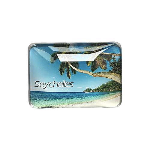 3D Seychellen Kühlschrank Kühlschrankmagnet Kristall Glas Handgemachte Touristische Reise Souvenir Sammlung Geschenk Whiteboard Magnetischen Aufkleber Dekoration