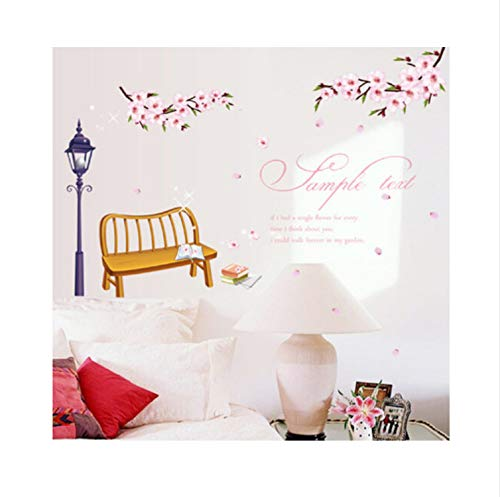 saqwq Romantic Cherry Blossom Bedroom Sitting Room Porch Removable Wall Stickers 98 * 75 cm