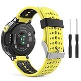 MoKo Garmin Forerunner 235 Accessori, Morbido Cinturino di Ricambio in Silicone per Garmin Forerunner 220/230/235/620/630/735 Smart Watch (Non per Forerunner 35), Giallo