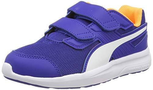 Puma Escaper Mesh V PS, Unisex-Kinder Sneakers, Blau (Surf The Web-Puma White-Orange Pop), 32 EU ( UK)