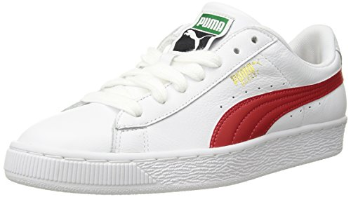 Preisvergleich Produktbild PUMA Men's Basket Classic LFS Sneaker,  White-Flame Scarlet,  14 M US