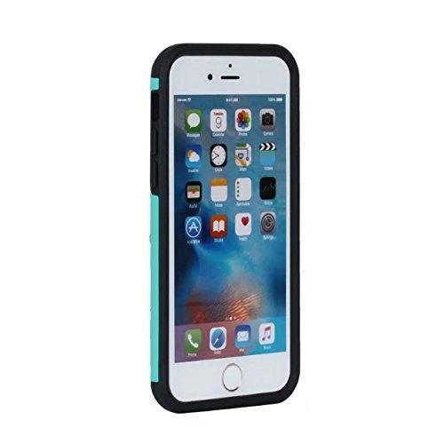 """iPhone 6 Coque,iPhone 6S Coque,Lantier fini mat givré finition design antichoc 2 en 1 Combo Rugged Armor Housse de protection pour Apple iPhone 6/6S 4.7"""" Rose Or+Rose Mint Green+Black"""
