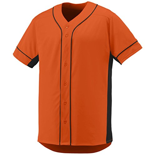 Augusta Sportswear Men'S Slugger Baseball Jersey 2Xl Orange/Black