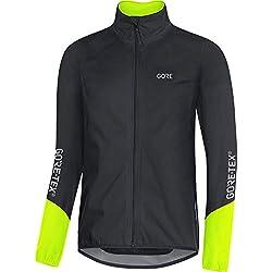 GORE WEAR C5 Chaqueta de ciclismo de hombre GORE-TEX, L, negro/amarillo neón