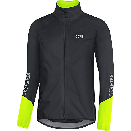 GORE WEAR Herren C5 Fahrrad-Jacke GORE-TEX, Schwarz/Neongelb, XXL
