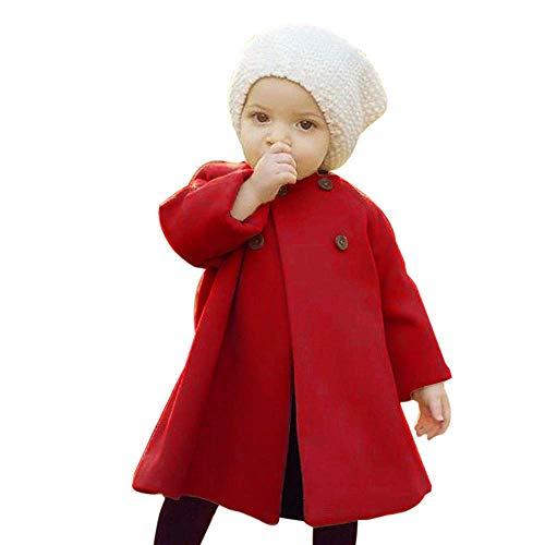 Kostüm Doo Familie Scooby - LSTC Herbst Winter mädchen Outwear Mantel Kleinkind Kinder Baby Taste Jacke warme Mantel Baumwollmischung Kleidung Nette Reine Farbe Sweatshirt Feste regelmäßige Sport Kleid Mantel Parka 100,Red