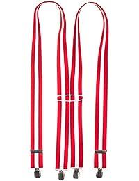 shenky - Bretelles en X - 4 pinces résistantes - fabriquées en Allemagne 3bc963ce673