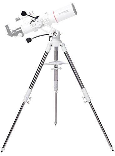 Bresser telescopio para Pantalla Plana con trípode Twilight–Color Blanco