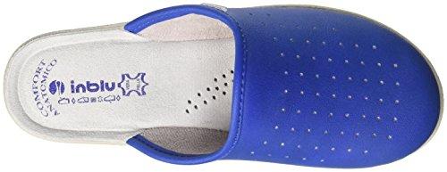 INBLU 50000033, Pantofole Aperte sulla Caviglia Donna Blu (Jeans)