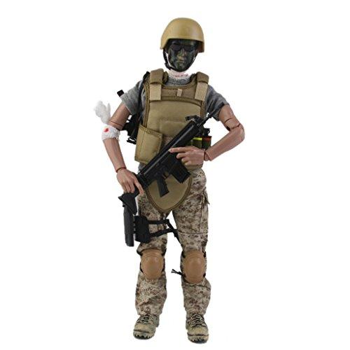 12 pulgadasjuguete 1/6 Militar Del Ejercito Del Combate Del Desierto Figura Modelo De Accion Soldado Acu