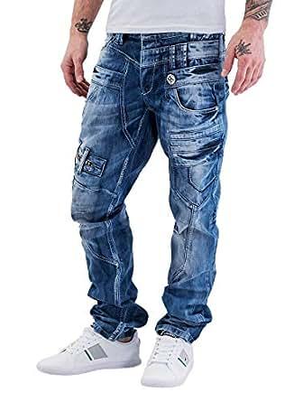 Cipo & Baxx Herren Jeans / Straight Fit Jeans Fred 28W / 32L Blau