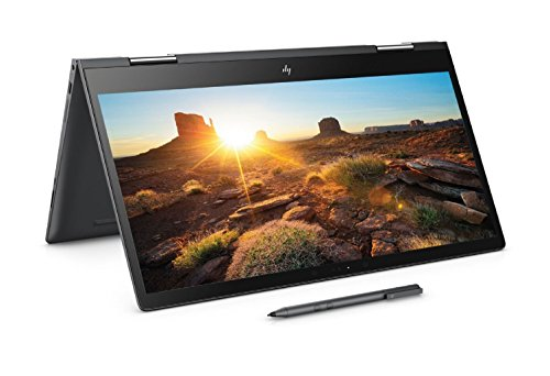 HP Envy x360 15-bq100na 15.6-Inch FHD Convertible Laptop with Stylus (Dark Ash Silver) - (AMD Ryzen 5 2500U, 8 GB RAM, 128 GB, 1 TB HDD, AMD Radeon Vega M Graphics, Windows 10 Home)