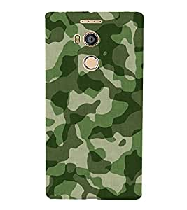 FUSON Army Khaki Millatry Pattern 3D Hard Polycarbonate Designer Back Case Cover for Gionee Elife E8