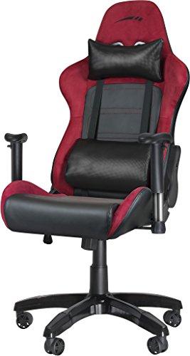 Speedlink SL-660000-RD Regger Gaming Stuhl (Kunstleder und Kunstwildleder, Rückenlehnenhöhe: Circa 81 cm) rot/schwarz
