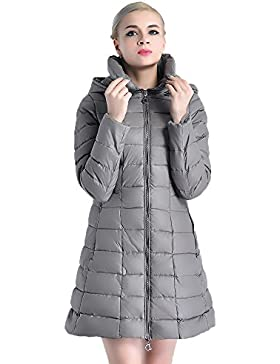 Elegante nuevo párrafo de manga larga de algodón de las mujeres en la chaqueta de cazadora con capucha de doble...
