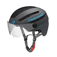 Cratoni Unisex – Erwachsene Commuter Helm, schwarz, 1size