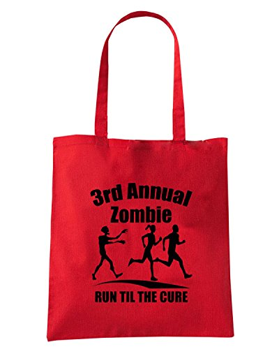 T-Shirtshock - Borsa Shopping FUN0070 3rd annual zombieLRG Rosso