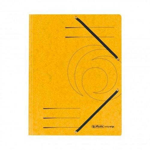 Preisvergleich Produktbild Herlitz 10843886 Einschlagmappe A4 aus Colorspankarton mit Gummizug, gelb