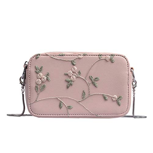 Ledertasche, Schultertasche, Geschenk, Handgefertigte Tasche,Mode Frauen neue gestickte Kette Wild Bag Schulter Messenger Bag ()