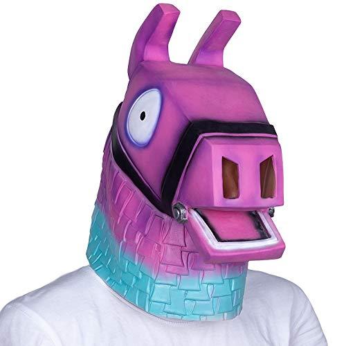 Billig Kostüm Lama - WULIHONG-MaskeHot Film Rosa Lama Kopf Maske Erwachsene Halloween Party Kostüm Latex Maske Tier Pferd Maske Freies Verschiffen